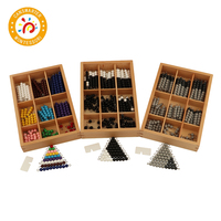 Montessori Teaching Math Toys Colored Beads Bars Wood Toys Early Childhood Education Preschool Training