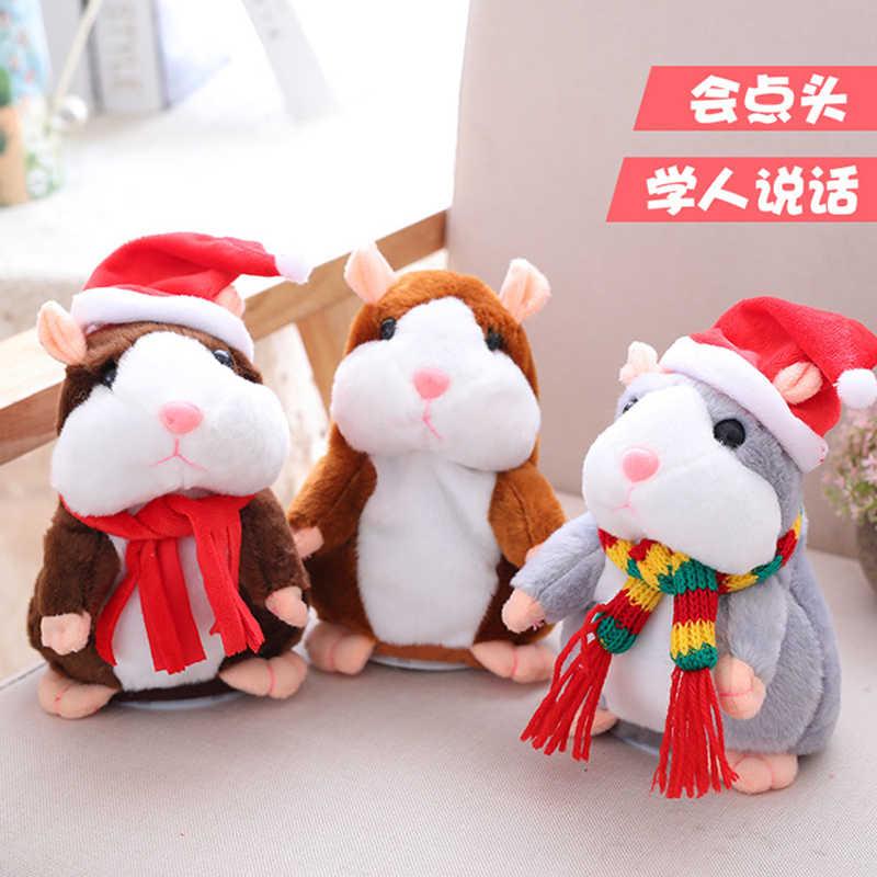 Anak-anak Mainan Rekaman Hamster Pendek Mewah Hewan Cerdas Mengangguk Berbicara Mainan Puzzle Hadiah Mainan Pendidikan untuk Anak-anak
