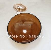 Free Shipping Glass Handcraft Bathroom Sink Wash Basins JN 4099 3