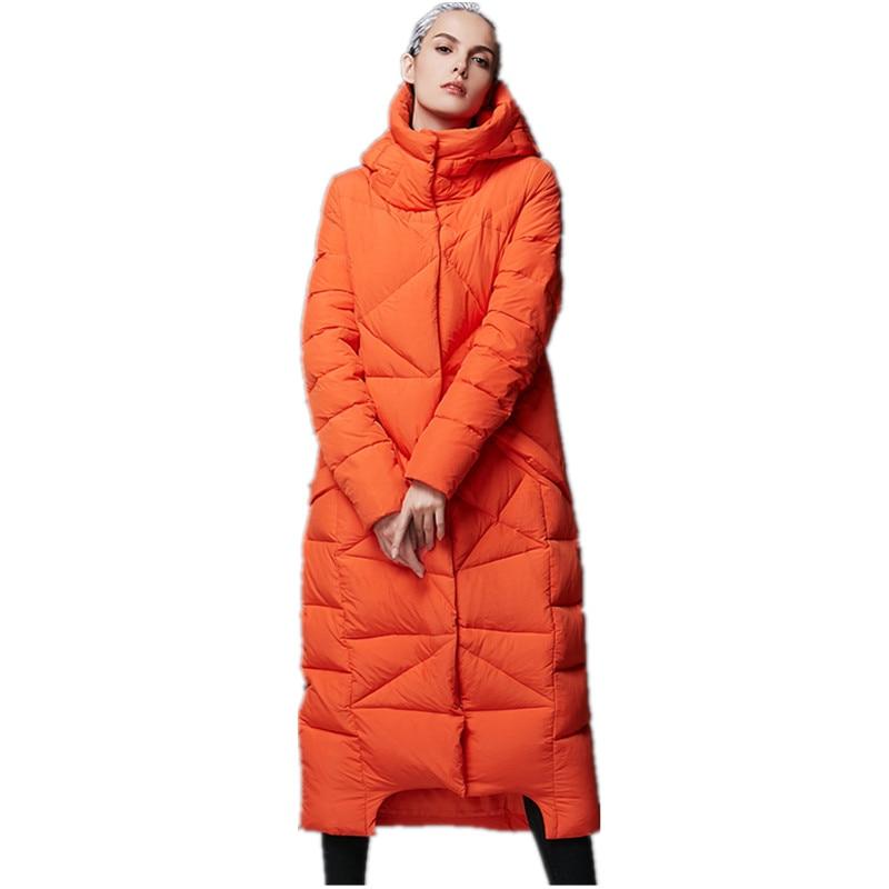 Women Winter Padded   Down   Jackets Long   Down     Coat   Women Overknee Light   Down   Warm Jacket Overcoat Plus Size Stand Collar AS105