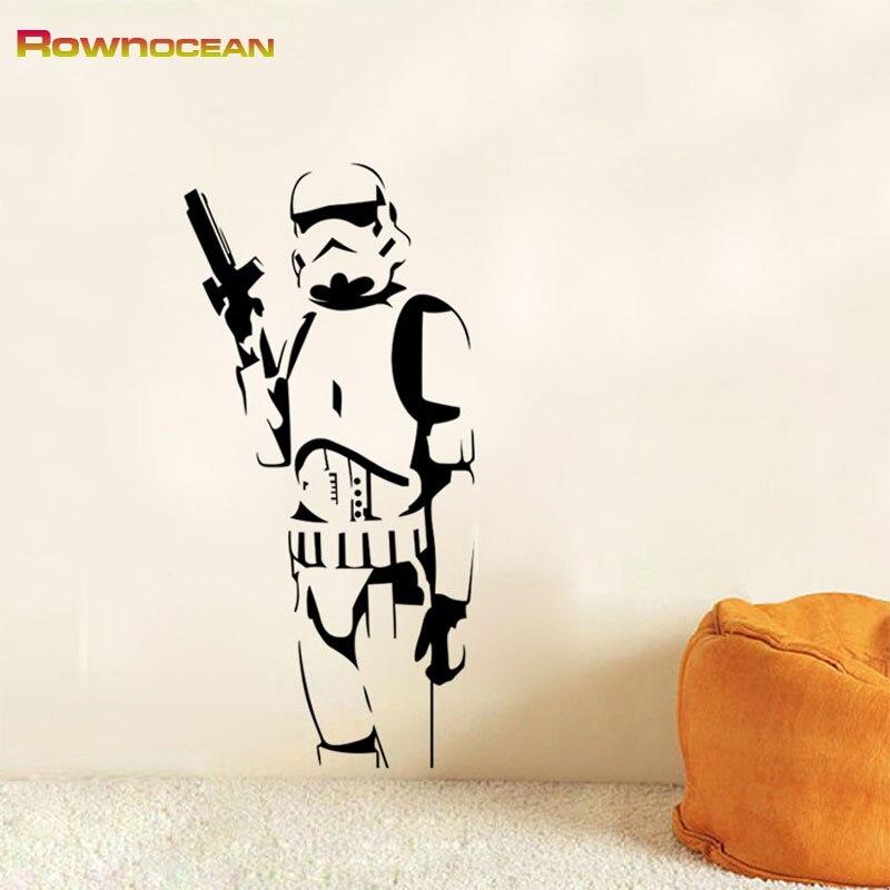 Star Wars Design Stormtrooper Stickers për Fëmijët Vinilos - Dekor në shtëpi - Foto 4