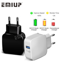 qc3.0USB mobile phone fast charger for iPhone, Sams