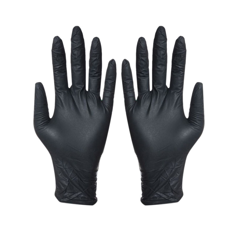 MOOL 100Pcs Disposable Black Gloves Household Cleaning Washing Gloves Nitrile Laboratory Nail Art Medical Anti-Static Gloves