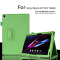 for Sony Xperia Z2 10.1 inch Tablet Case Litchi PU Leather Cover For Sony  Z2 Tablet Slim Folding Cover Case  Free Shipping