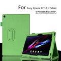 Para Sony Xperia Z2 10.1 polegada Tablet lichia PU caso capa de couro para Sony Z2 Tablet Slim dobrável frete grátis