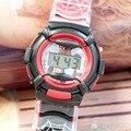 XINJIA LED Sports Watch Anime Spiderman Dos Desenhos Animados Lazer Meninos Eletrônicos Relógios Crianças Digital Relógios De Pulso relogio KT-09