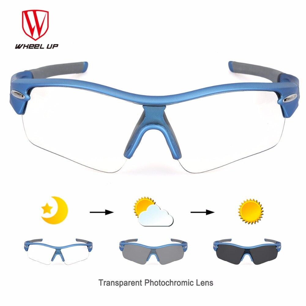 Prix pour ROUE UP Photochromiques lunettes de Soleil Vélo Équipement Vélo Lunettes Sport Mountain Road Vélo Hommes Femmes Lunettes avec 3 Objectif Noir