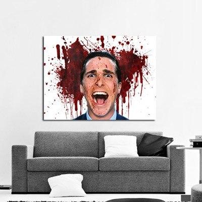 TOP art --Movie American Psycho Christian Bale - oil PAINTING -100% handpainted WORK-