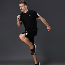 BINTUOSHI Mens Running Sets Soccer Jerseys Sports Basketball Kit Clothing Fitness Set Breathable Quick-Dry Gym Jogging Suit