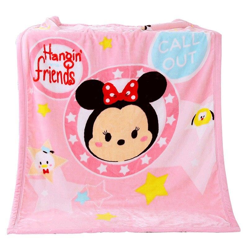 Couverture en molleton de corail 100x140CM couverture Mickey Minnie pour enfants sur lit canapé canapé enfants fille couverture en laine pour femmes