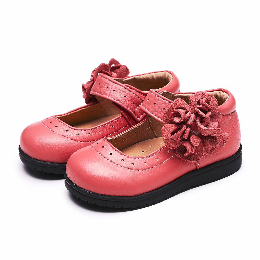 Tipsietoes Children Shoes for Girls Princess Party Leather  Flower Girl Rhinestones  Kids Bowtie Dress