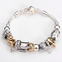 All Compatible 925 Silver Duck Charm Bracelets for Women Silver Beads DIY Bracelets Wholesale Fashion Jewelry