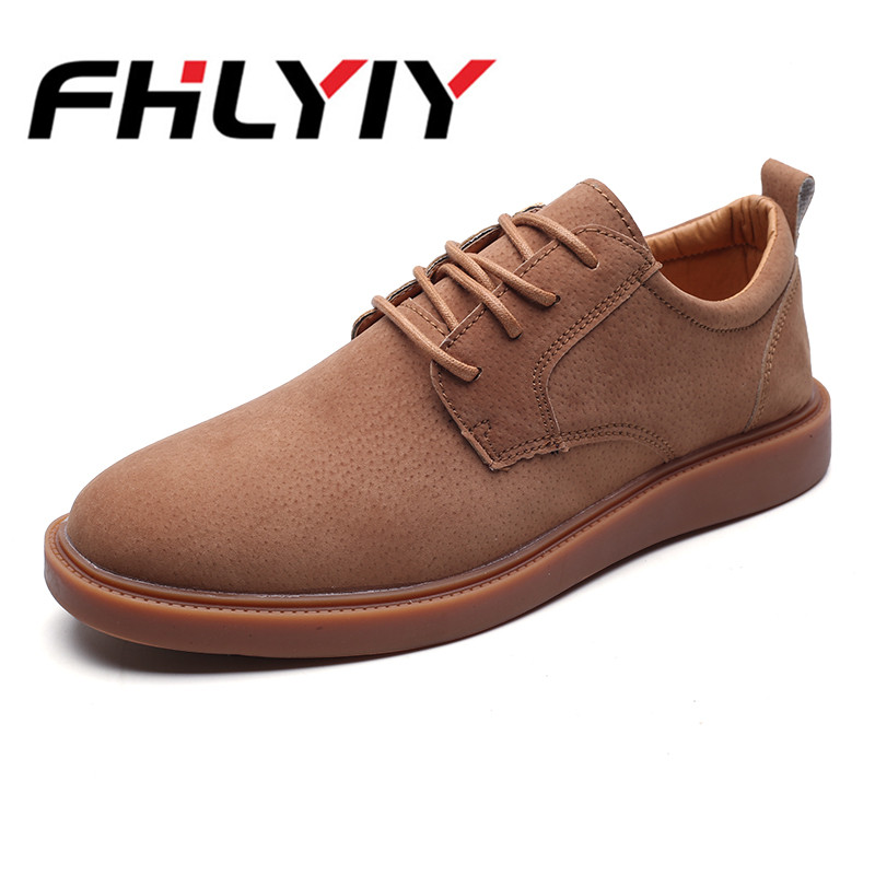 Men's Pu Leather Lace Up Breathable Casual Shoes FHLYIY Flat Party Dress Office Business Male Shoes High Quality Flats Shoes lace up pu leather breathable casual shoes page 5
