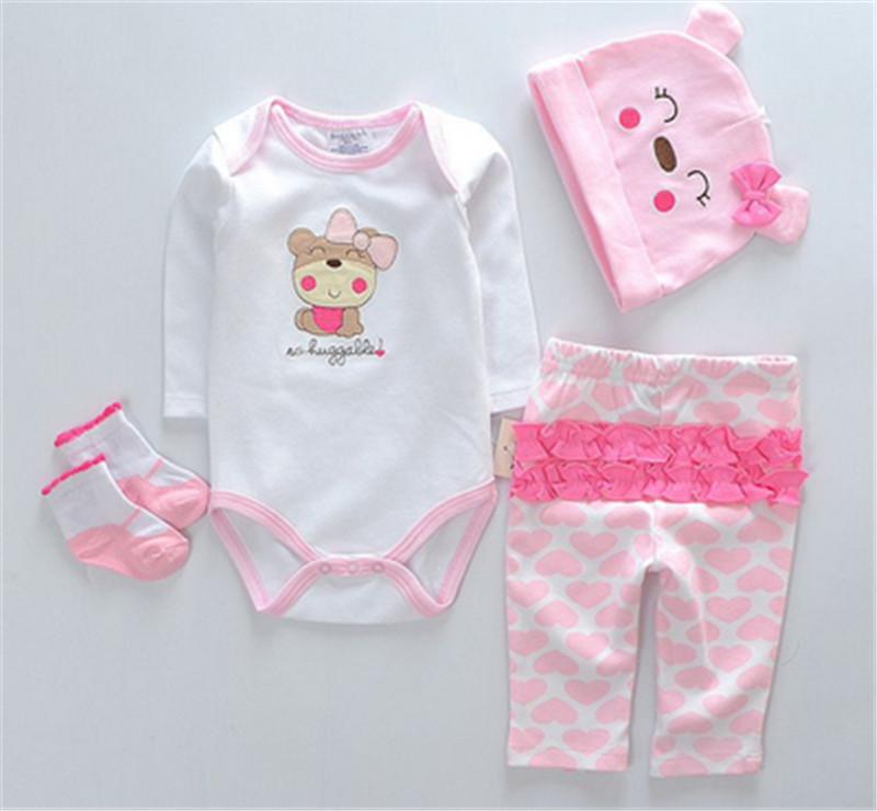 1 Set Clothes For Doll Reborn Girl Boy Dolls Clothes Pink