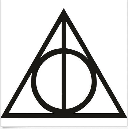 Harry Potter Deathly Hallows Wall Decal / Sticker 5″