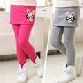 2015 new wild boy pants girls winter models plus velvet backing hakama pants big virgin Kids