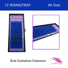 FREE SHIPPING hot sale 5 pcs lot individual lashes blue color eyelash extension 0 07mm J
