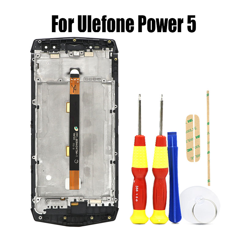 Original Touch Screen 2160X1080 LCD Display Frame Assembly Replacement For Ulefone Power 5 Power 5s