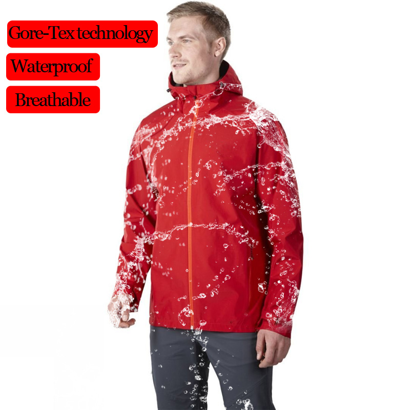 Waterproof Jacket Mens Raincoats Outdoor Hooded Lightweight Softshell Windproof Rain Jackets for Hiking Mountain Hunting Cycling