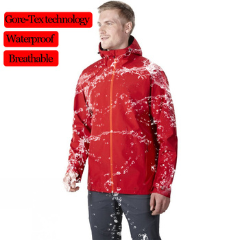 Waterproof Jacket Mens Raincoats Outdoor Hooded Lightweight Softshell Windproof Rain Jackets for Hiking Mountain Hunting Cycling japan fashion womens thin portable tour long trench raincoats burbe rry girls waterproof clothes floral outdoor rain jacket page