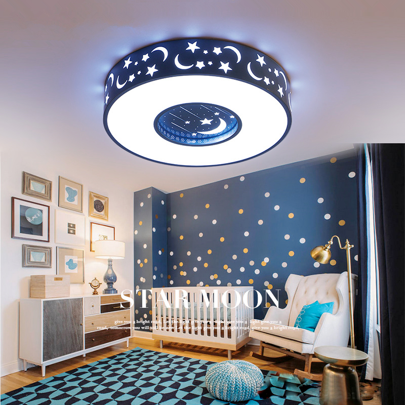 Modern LED creative home ceiling lights Acrylic bedroom Ceiling lighting Novelty children's room Fixtures Iron ceiling lamps все цены