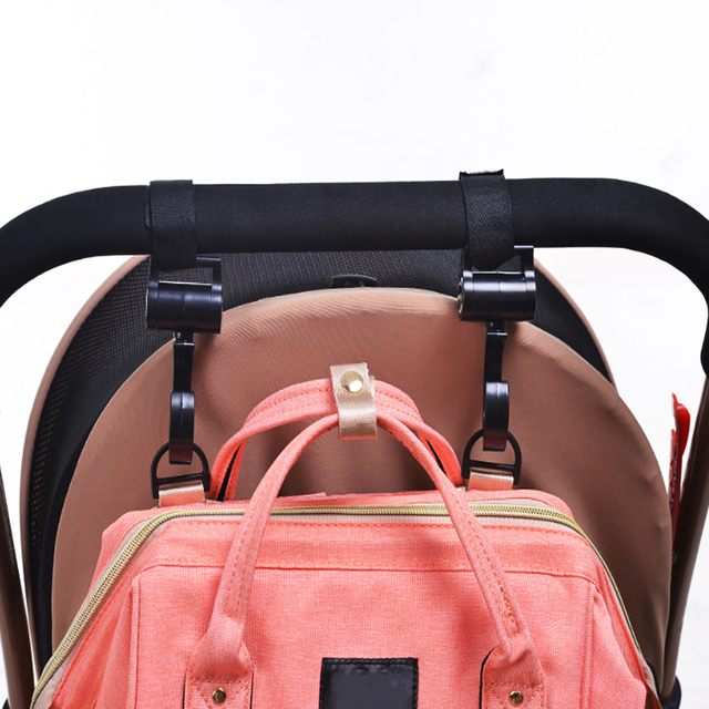 2pcs/ Baby Hanger Baby Bag Stroller Hooks Pram Rotate 360 Degree baby car seat accessories stroller organizer dropshipping