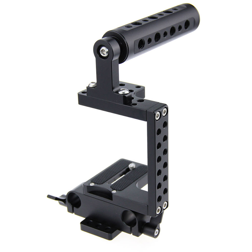 CAMVATE Camera Cage Rig Kit Top Handle Grip Gimbal for BMCC Sony Panasonic 4K Micro DSLR Fotografia Accessories C0936 camvate dslr handle camera grip wooden handgrip right hand for arri alexa extender arm shoulder support system c1321