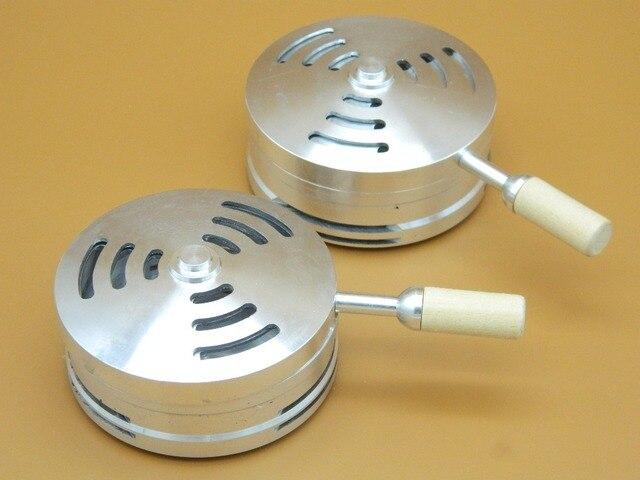 1 unid nueva Hookah estufa de carbón de Metal Shisha carbón cabeza calor guardián seguro para pipa de narguile accesorios mango de madera