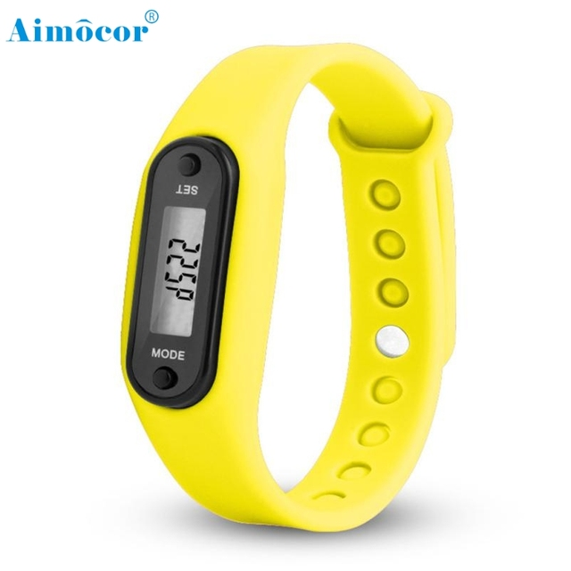 Digital Watch2017New and High Quality Digital LCD Pedometer Run Step Walking Distance Calorie Counter Watch Bracelet Dropship511