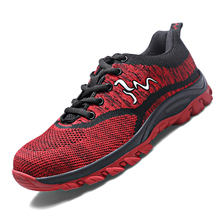 35-46 Men Women Running Shoes Lace-up Athletic Trainers Zapatillas Sports Shoes Men Outdoor Walking Sneakers No-Slip No-Stab