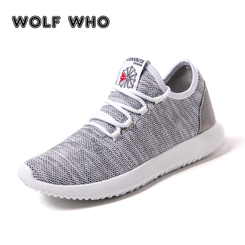 WOLF WHO Men Casual Shoes Lightweight Breathable Flats Men Shoes footwear Zapatos Hombre Casual Shoes Men chaussure homme W-007 2017new men casual shoes elastic breathable massage flats shoes spring summer men s flats men sapatos chaussure homme masculinos