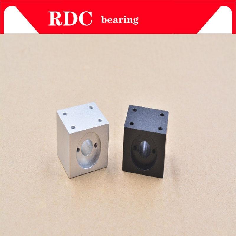 цена на 1PCS T10 trapezoidal screw nut housing white black mounting bracket aluminum for T10 screw brass nut engraving machine T10 nut