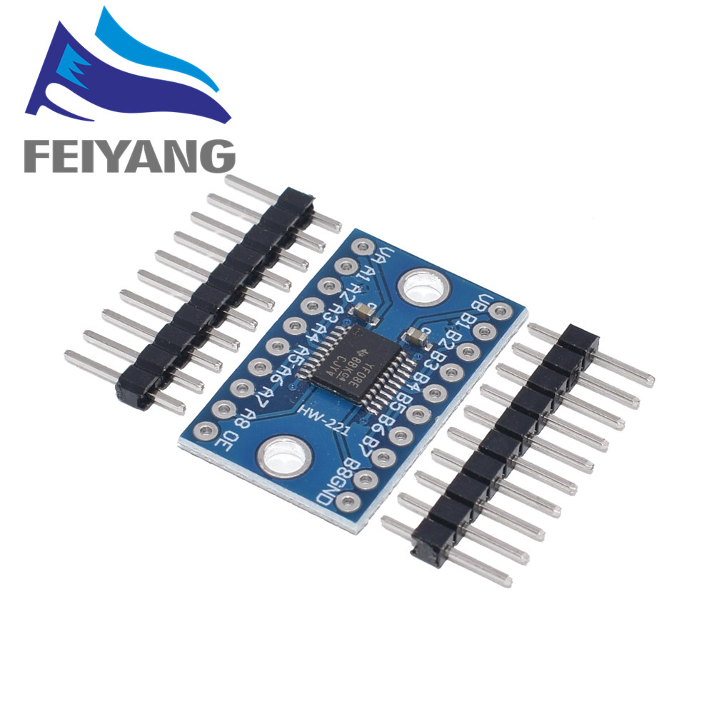 3,3 V 5V TXS0108E 8-канальный сетевой видеорегистратор логический уровень конвертер преобразует TTL двунаправленный взаимная преобразование