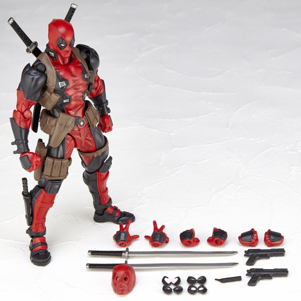 NEW hot 16cm Super hero X-Men Deadpool movable action figure toys collection Christmas gift doll 26cm x men single toys deadpool figure play arts dead pool collection model doll toy christmas gifts super heroes action figures