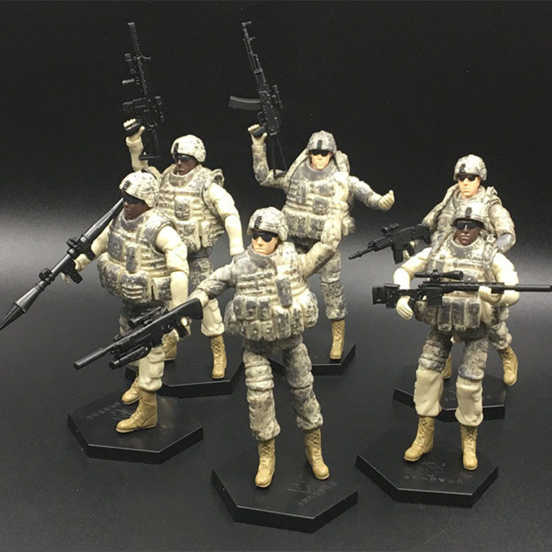 1 مجموعة مع مربع تجميع العسكرية الجندي نموذج 101st Airborne شعبة (الهواء الاعتداء) اللبنات اللعب نموذج أطقم للأطفال