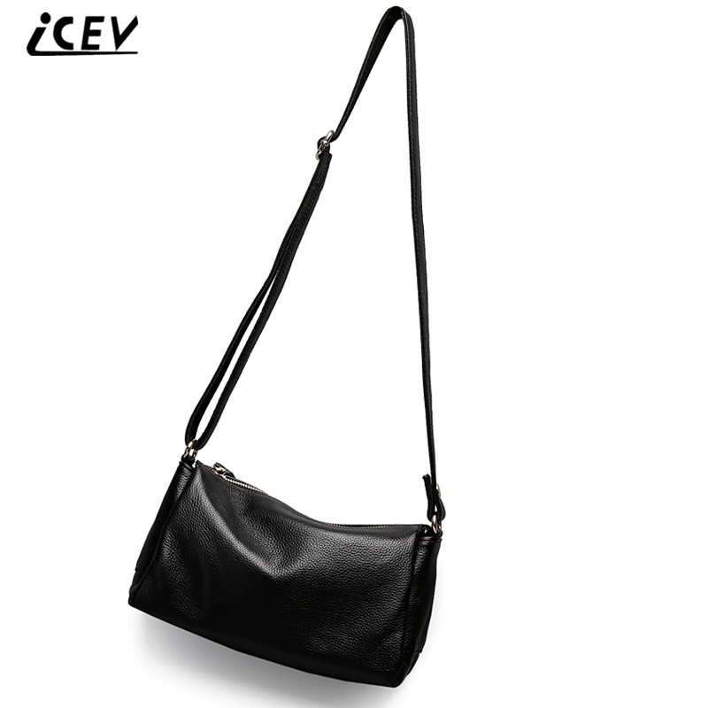 ICEV New Arrival Designer Handbags High Quality Cow Leather Women Messenger Bag Genuine Leather Handbags Ladies Simple Totes Sac girls europe the united states children princess long sleeved purple lace flower dress female costume kids clothing bow purple