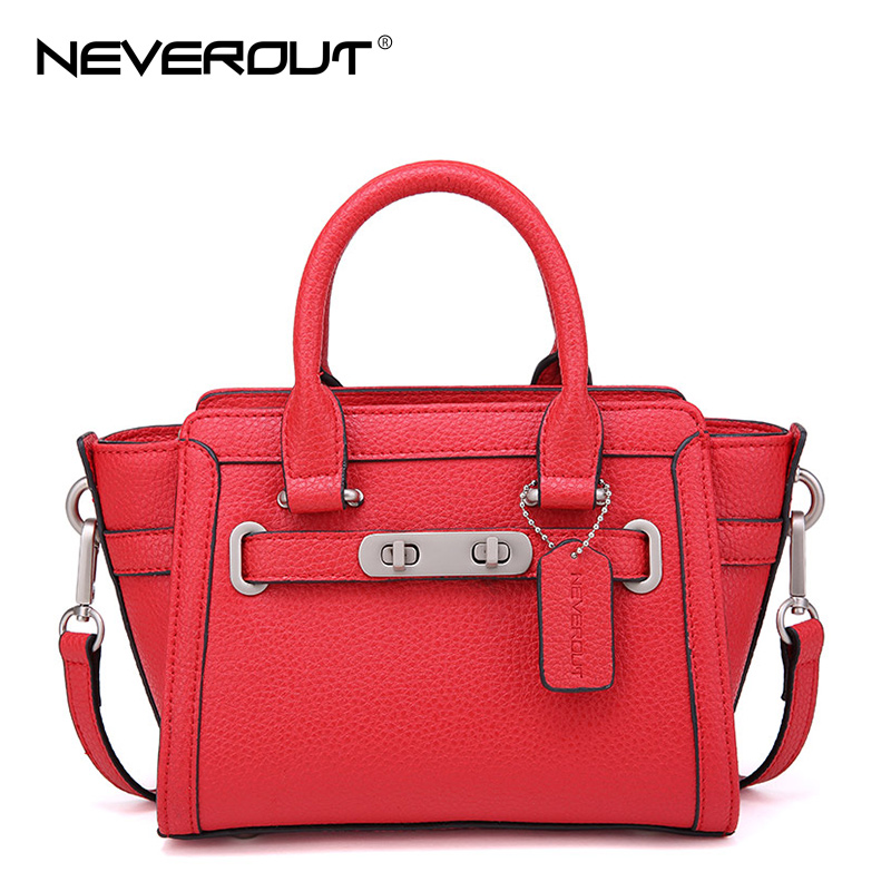 NeverOut Split Leather Women Bag Shoulder Sac Female Solid Trapeze Bags Classic Lady Handbags Zipper Crossbody Bag Brand Handbag handbags women trapeze bolsas femininas sac lovely monkey pendant star sequins embroidery pearls bags pink black shoulder bag