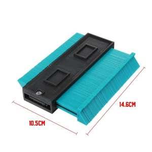 Image 5 - Multifunction Plastic Irregular Shaper Profile Ruler Gauge Duplicator Contour Scale Template Curvature Scale Tiling Laminate