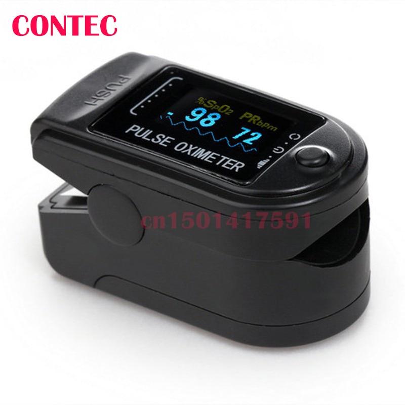 CONTEC CMS50D OLED CE&FDA Blood Oxygen SpO2 Monitor Blue oximetro de dedo pulse oximeter
