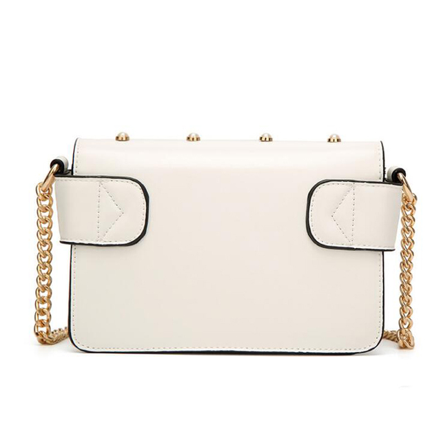 Women's Travel Messenger Bag Small Luxury Pearl Chain