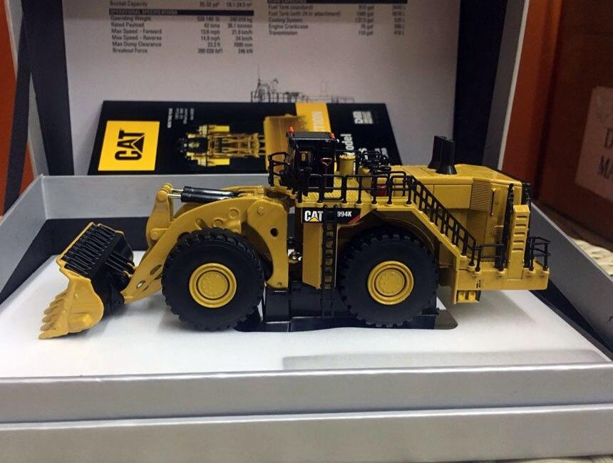 Rare moulé sous pression jouet modèle DM 1:125 Caterpillar 994 K chargeuse sur pneus Elite véhicules machines d'ingénierie 85535 pour homme cadeau, décoration