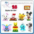 Promoción de ventas Qute LOZ Diamond bloques de construcción de diamante hello kitty 3D ladrillos de aprendizaje juguetes educativos para las muchachas