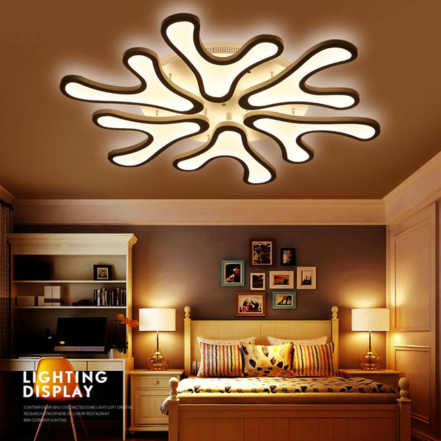 FULOC Acrylic Modern led ceiling lights for living room bedroom light fixtures