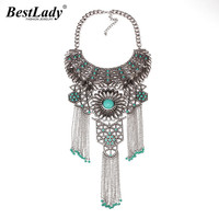 New Resin Flower Hollow Metal Long Tassel Chain Maxi Brand Gold Plated Chain Women Chunky Statement
