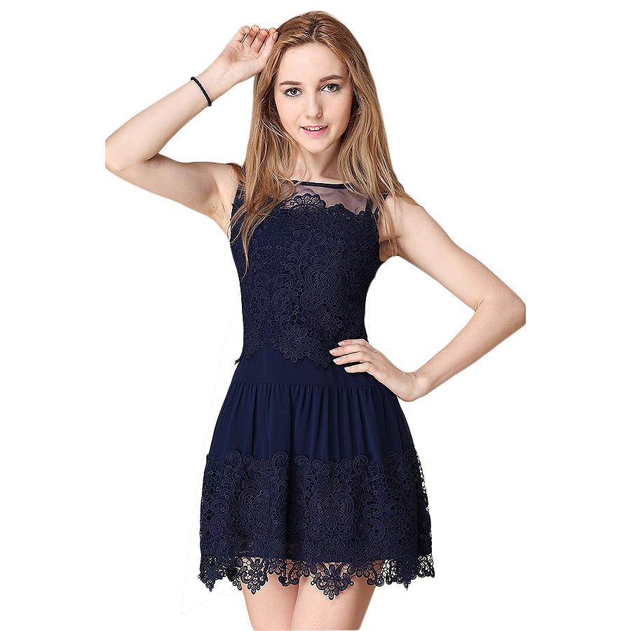 2016 Hot Sale New font b Fashion b font Large size Summer Dress Slim Dress Round