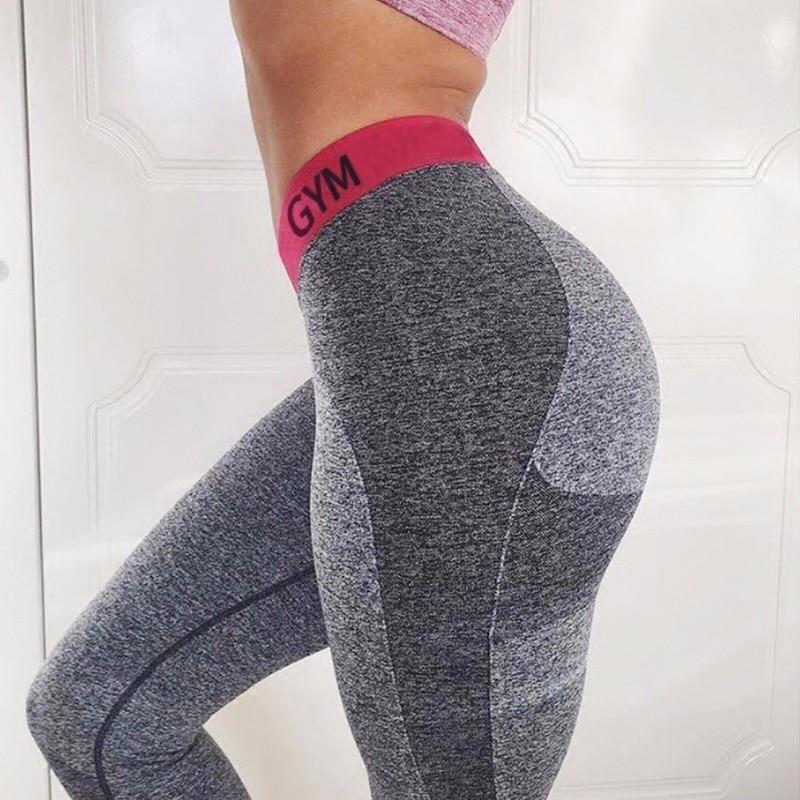 OVESPORT Patchwork Slim Women Leggings Fitness High Waist Elastic Leggings For Women Workout Quick Dry Pants Push Up Leggins