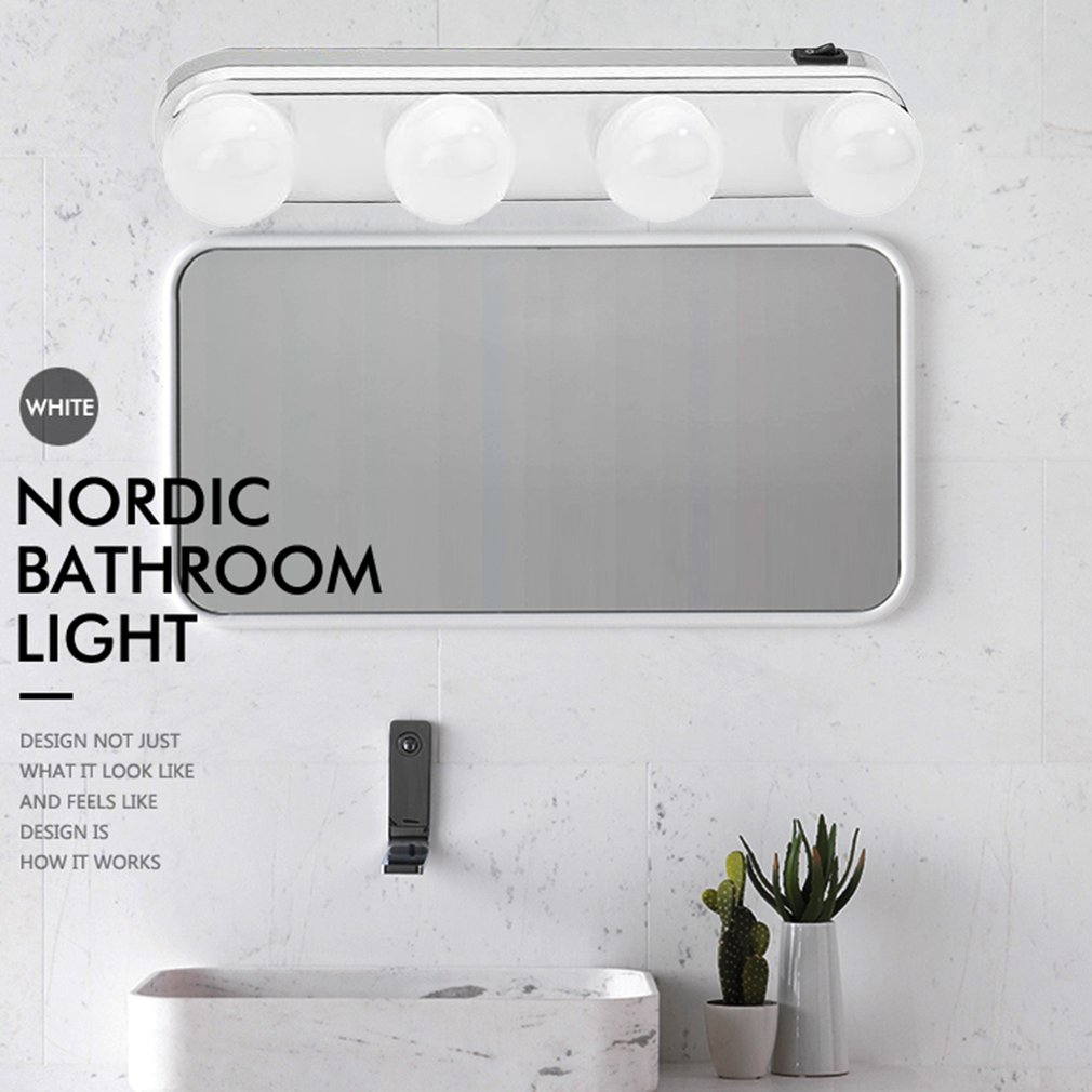 Studio Glow Make Up Light Super Bright 4 Led Bulbs