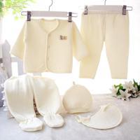 2017 New Fashion Newborn Kids Pajamas Baby Clothing Set T Shirt Pants Flat Pack Pants Hat
