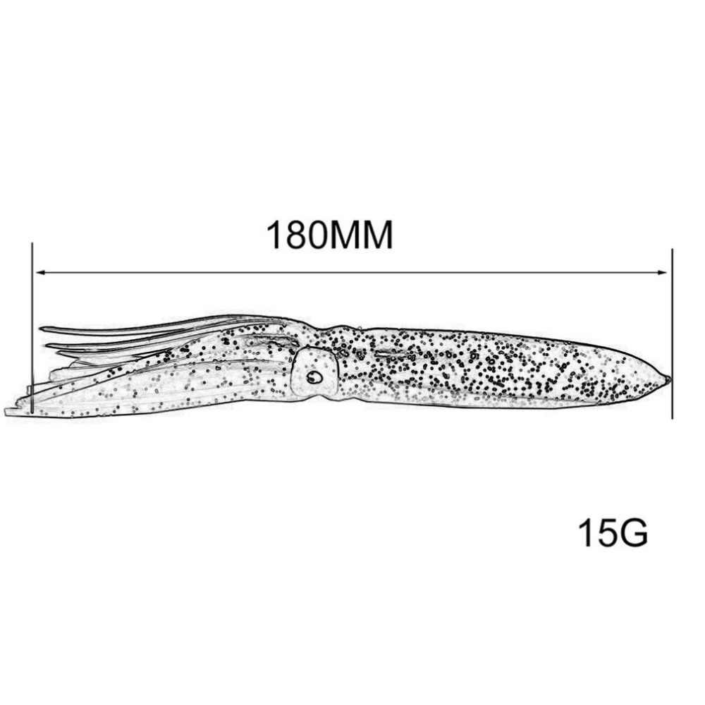 18 cm/15g cebo suave falda de pulpo grande falda de calamar señuelos de cebo de pesca pulpo