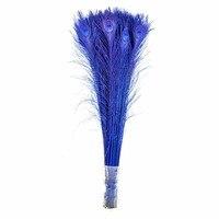 Оптовая продажа натуральный Королевский синий окрашенные красные перья павлина 70-80 см/28-32 дюймов DIY Декор перо для Свадебные украшения свои...